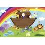 Painel Decorativo Festa Infantil Arca De Noé (mod3)