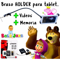 Holder Tablet +promo 7 A 11 Pulgadas Masha Bebes Videos Dora