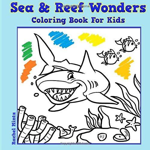 Libro Para Colorear Para Niños - Mar & Reef Maravillas: Vida ...