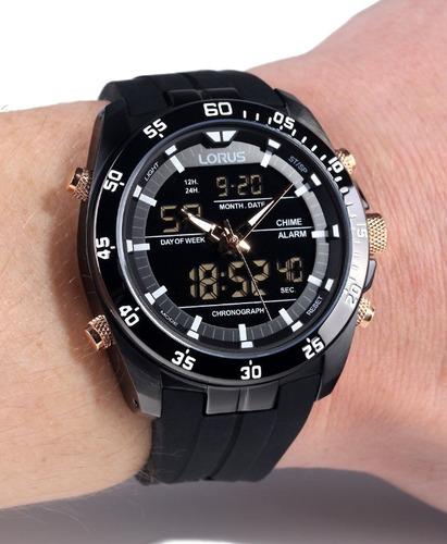 Reloj Lorus Rw615ax9 Negro Analogo Digital Crono Alarma
