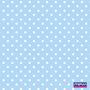 Azul bebê com bolinhas brancas (Poá)