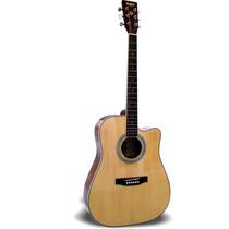 Guitarra Texana Acústica S101 Natural Con Funda Reforzada
