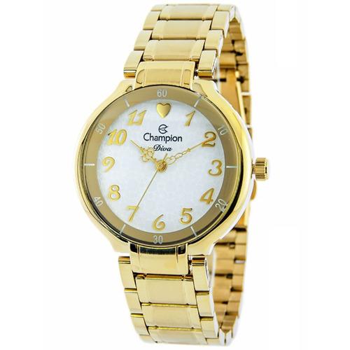 d783316b604 Relógio Feminino Analógico Champion Cn26395h Dourado - R  167