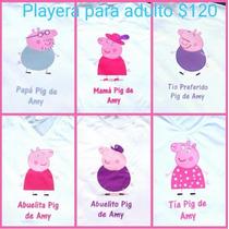 Playeras De Los Personajes De Peppa Pig Para La Familia