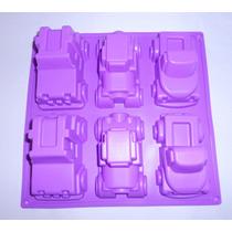 Molde Silicon Figura 6 Carritos Jeep Carro Medianos Amyglo