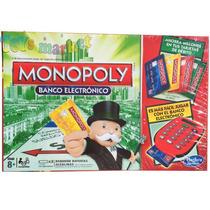 Monopoly Banco Electrónico Hasbro Incluye 4 Tarjetas Debito