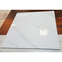Porcelanato Imitacion Carrara 80x80 Vitrificado Brillante 1°
