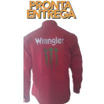 Camisa Rodeio Monster Dwalt Vermelha Bordado Costa
