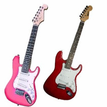 Guitarra Electrica Niños Mirrs Strato 3 Microfonos Oferta !!