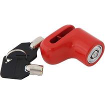 Trava Moto Cadeado Antifurto Disco De Freio 200cc - Vermelho
