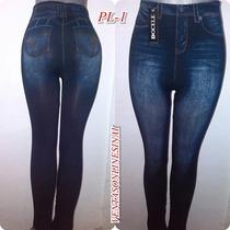 Leggins Tipo Jeans Tela Gruesa