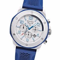 Reloj Bulova 98b200 Marine Star 100m Wr Crono Acero Silicona