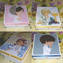 Souvenirs Comunion Cajitas Fibrofacil 6×6×4cm.lotex10cajitas