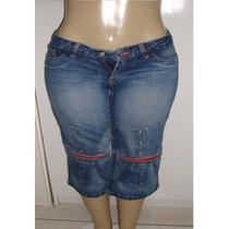 Calça Capri Jeans Feminina T.38 S/strech Marca Anticorpos S5
