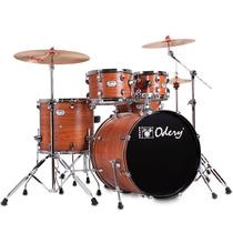 Bateria Acústica Odery In Rock Ir200hw Orange Wood