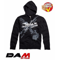 Fox Racing Red Bull Xfighters Exposed Zip-up Hooded X-large