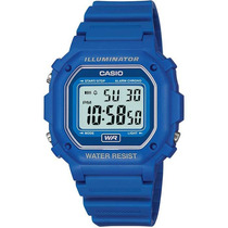 Reloj Casio Retro F108 Cronometro Alarma Calendario Luz Led