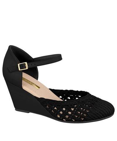e9c1fa193 Sapato Feminino Anabela Moleca Preto 5270734 - R$ 79,00 em Mercado Livre