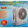 Ventilador 6en1:ventilador 8¨+linterna Recarg Led+radioam/fm