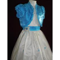 Nuevo Vestido Largo Fiesta Pajecita Princesa 6 Años