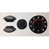Adesivo Painel Opala 72 C/ Relógio Central