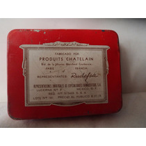 Antigua Caja Hojalata Aluminio Comprimidos Atracta Vintage