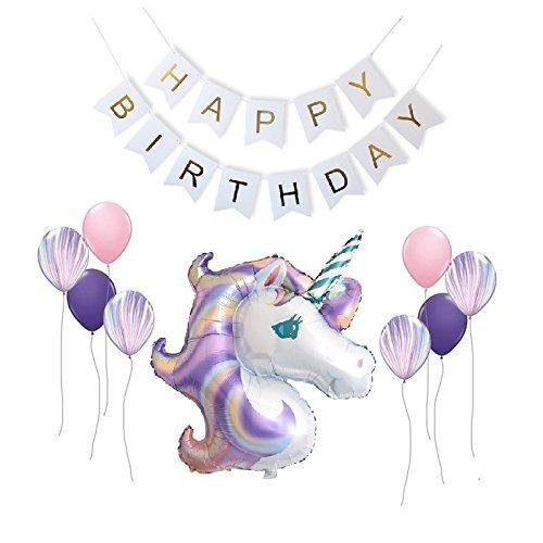 Letrero Feliz Cumpleanos Unicornio Ninas Envio Gratis 289 00