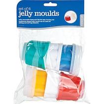 Moldes De Gelatina De Plástico 6u. De Colores