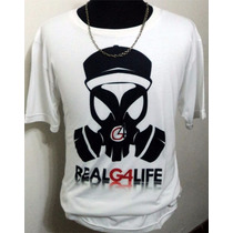Remera Logo Mascara Real G4 Life!! - Ñengo Flow