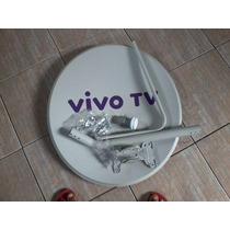 Antena Banda Ku Vivo 60cm Completa + Kit 20mt E 5 Conector