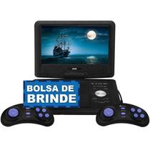 Dvd Portatil Tv 7 Bolsa E Games C/ Joystick - Top E Completo