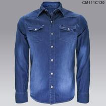 2x$599 Camisa Mezclilla Vaquera