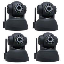 Kit 4 Câmeras Ip Wifi Sem Fio Vigilância Pelo Celular Com 3g