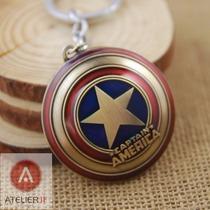 Chaveiro Original Escudo Capitão América Marvel Vingadores