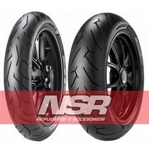 Juego Cubiertas Pirelli Diablo Rosso Honda Cbx 250 Twister
