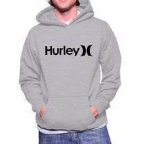 Moletom Hurley Unissex- Blusa De Frio Canguru- Frete Grátis!