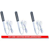Kit Com 3 Escova Modeladora Faet Pronto - Pronta Entrega!!