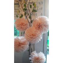 Pompones Y Flores En Papel Seda $ 10 - 16 Cm Oferta!!