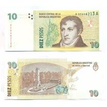 Argentina 10 Pesos Reposicion Sin Circular Bottero #3441
