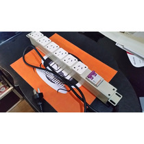 Consola De 6 Enchufes 1000watts 19 Rack Termica Metalica