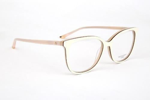 d773a84ca5e85 Armação Oculos Grau Ana Hickmann Ah6274 H01 Bege - R  369
