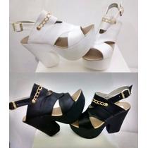 Sandalia Zapato Taco Platafoma Moda Prim/verano 2016 2017