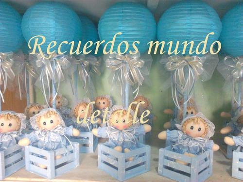Tiernos centro de mesa para bautizo bienvenida del bebe for Mesa baby shower nino