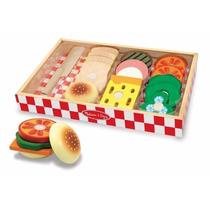 Set De Sandwich De Madera Juguete Melissa & Doug Didactico