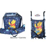 Carrinho + Berço Para Boneca Ursinho Pooh Disney Barato