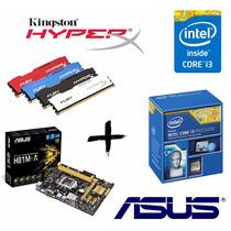 Kit Proc I3 4170 + Asus H81m-a + Mem 4gb Hyperx Fury