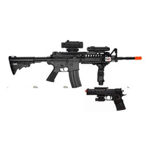 Combo Marcadora Airsoft Electrica D-92 Bbs 6mm Xtreme