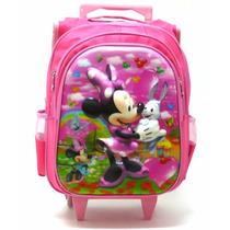 Mochila Minnie Mouse 3d Rodinhas Meninas