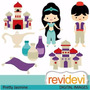 Kit Imprimible Princesa Jasmine Aladdin 3 Imagenes Clipart