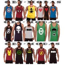 Camiseta Camisa Regata Super-herois . Escolha Seu Modelo!!!